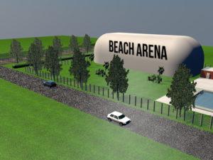 copertura pressostatica classe A Parma Beach Arena